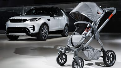Land Rover's all-terrain pushchair means baby can off-road too