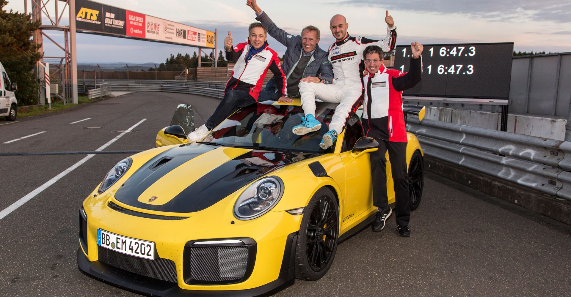 The Porsche 911 GT2 RS just claimed a Nurburgring record – and it's a quick one!
