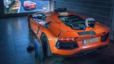 Lamborghini Aventador is turned into the world's most expensive racing sim