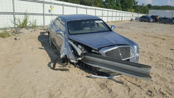 One Bentley Mulsanne for sale with, er, mild barrier damage