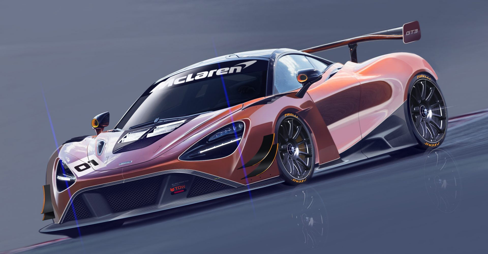 This is McLaren's new GT3 race car