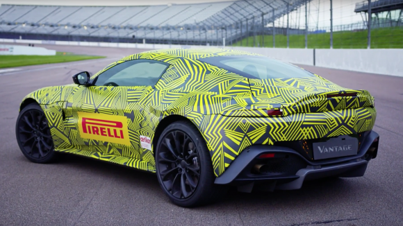 Max Verstappen takes the new Aston Martin Vantage for a spin