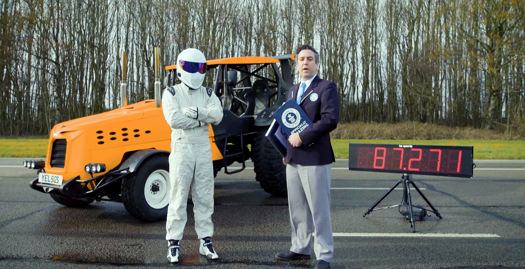Top Gear's Stig sets Guinness World Record for fastest tractor