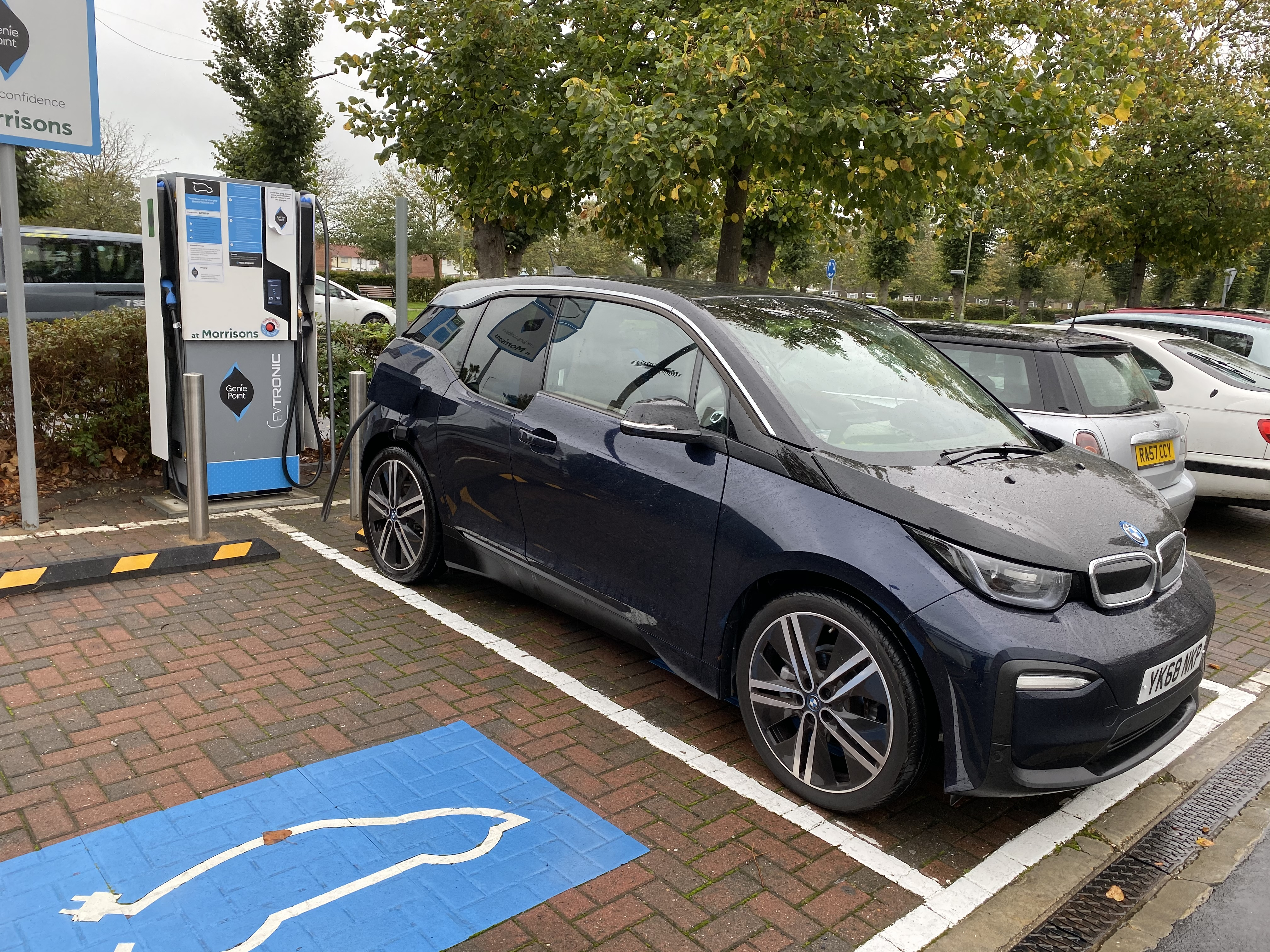 Charging was all that frequent with the i3