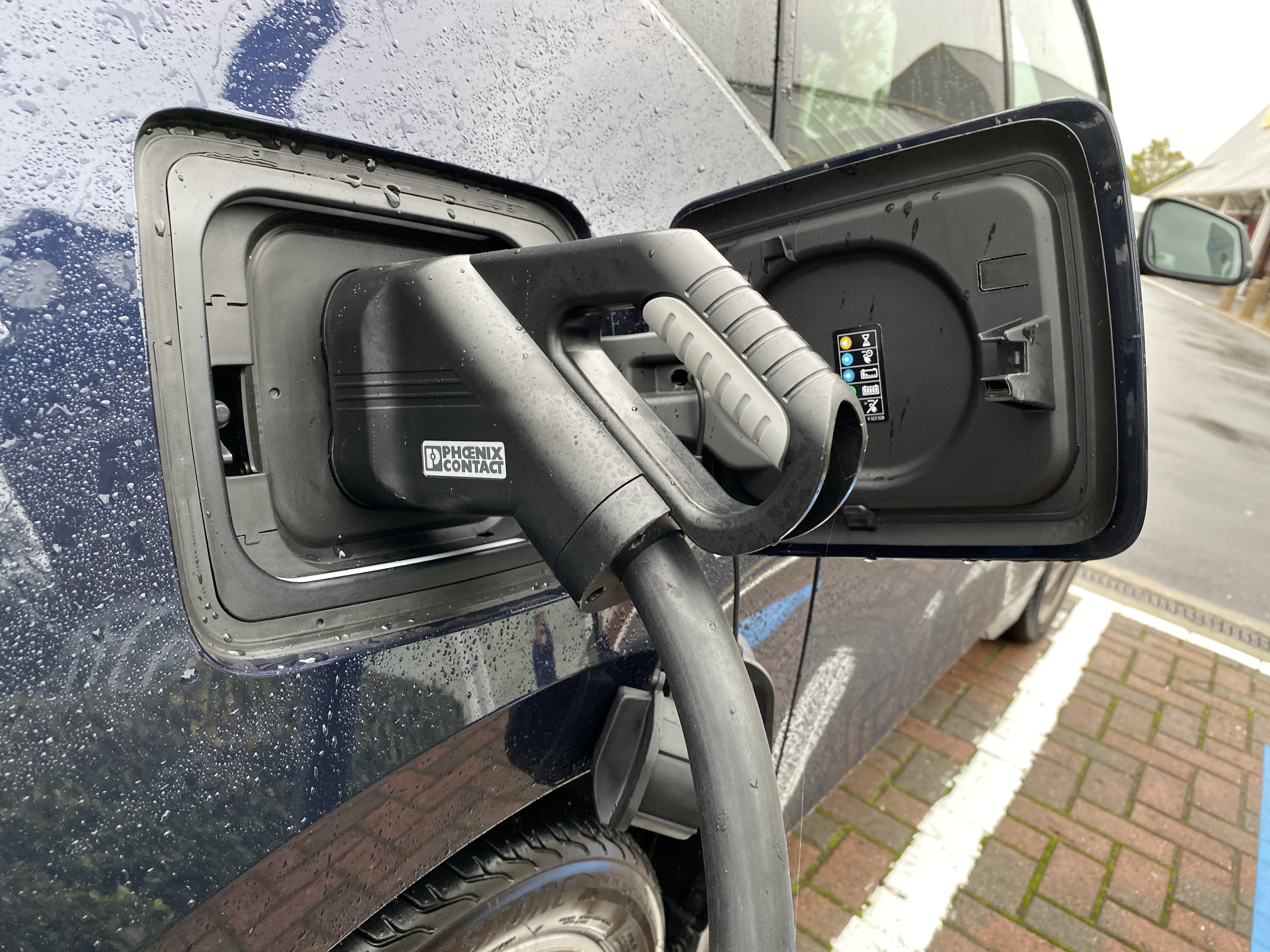 Charging the car is a simple process