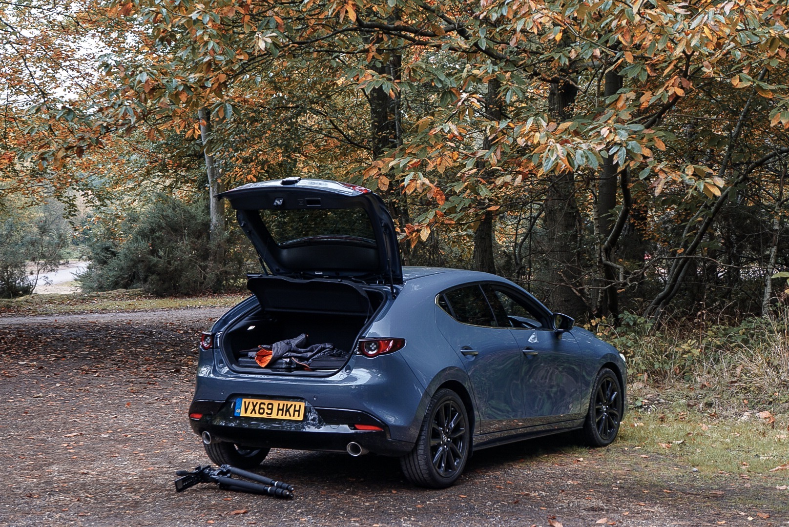 The Mazda's large boot means it's a practical option