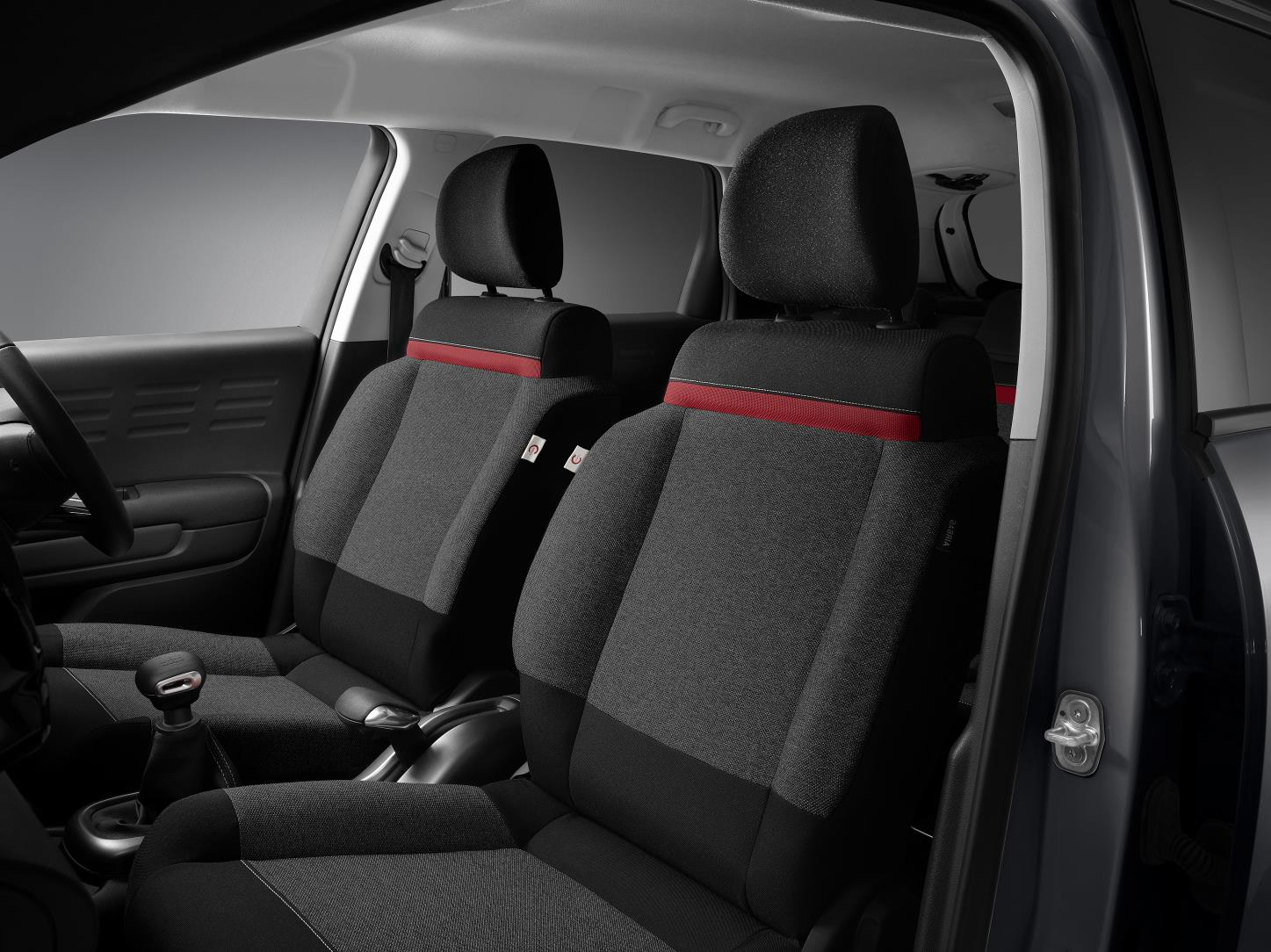 The seats benefit from unique C-Series badges