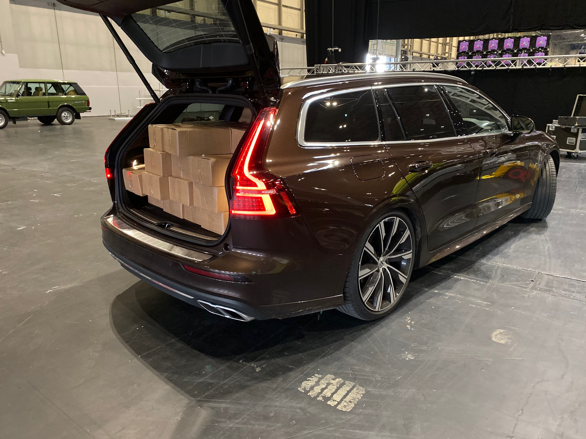 The V60's large boot has come in very handy