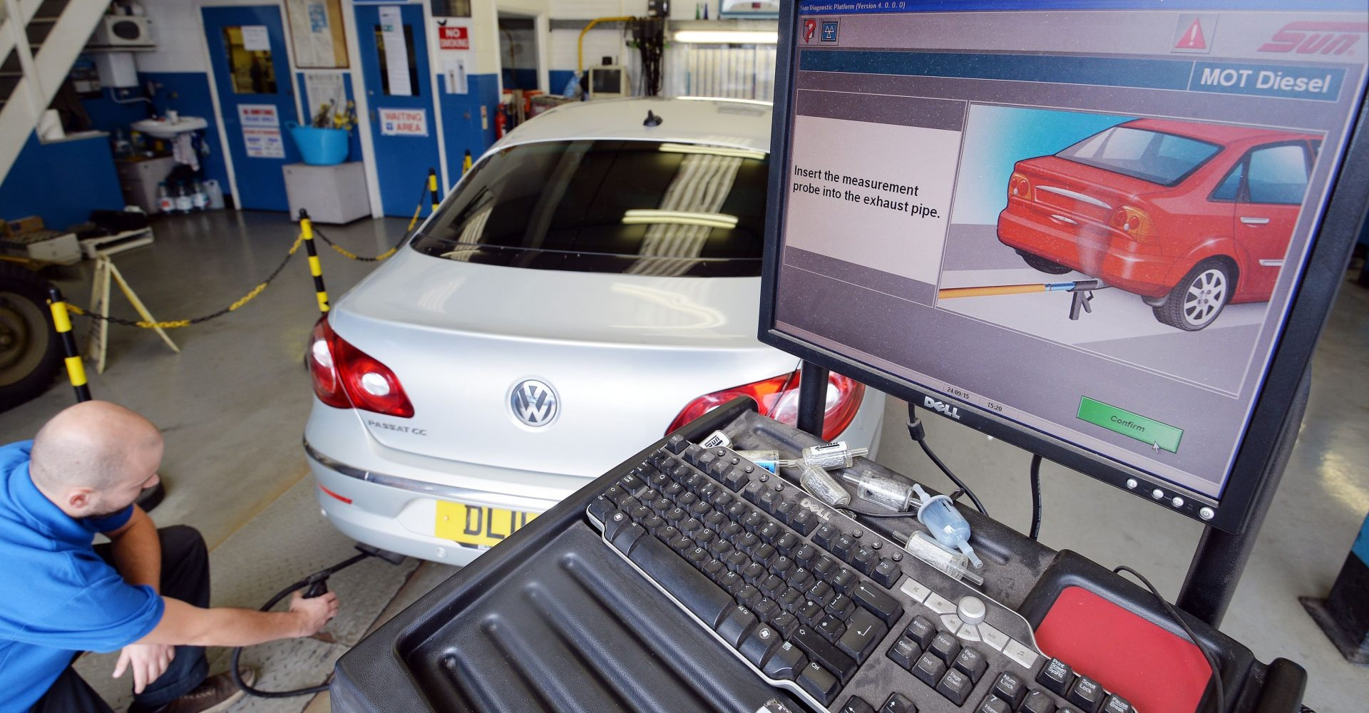 MOT tests for cars and light vehicles suspended