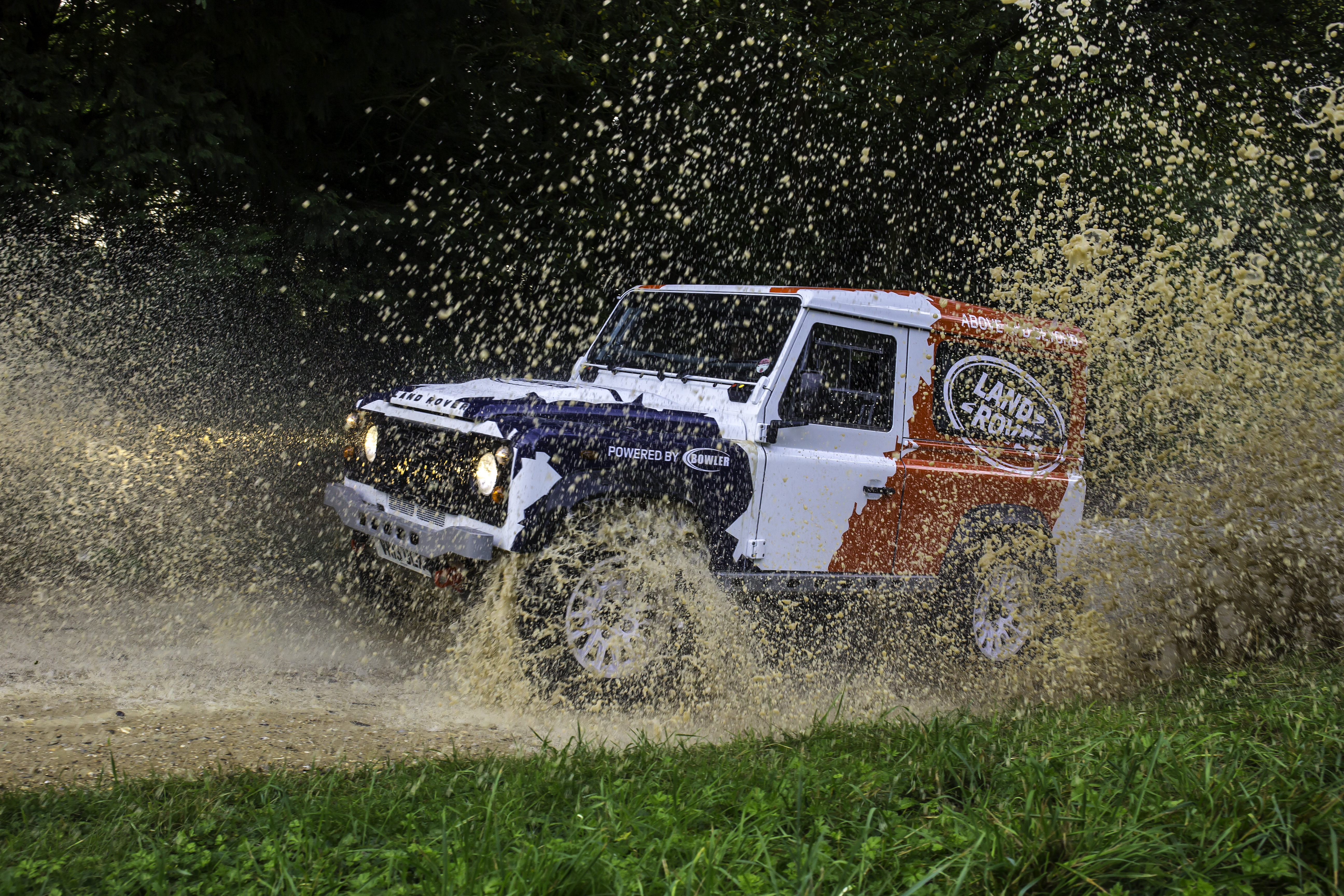 Land Rover Defenders have always felt at home on the rough stuff