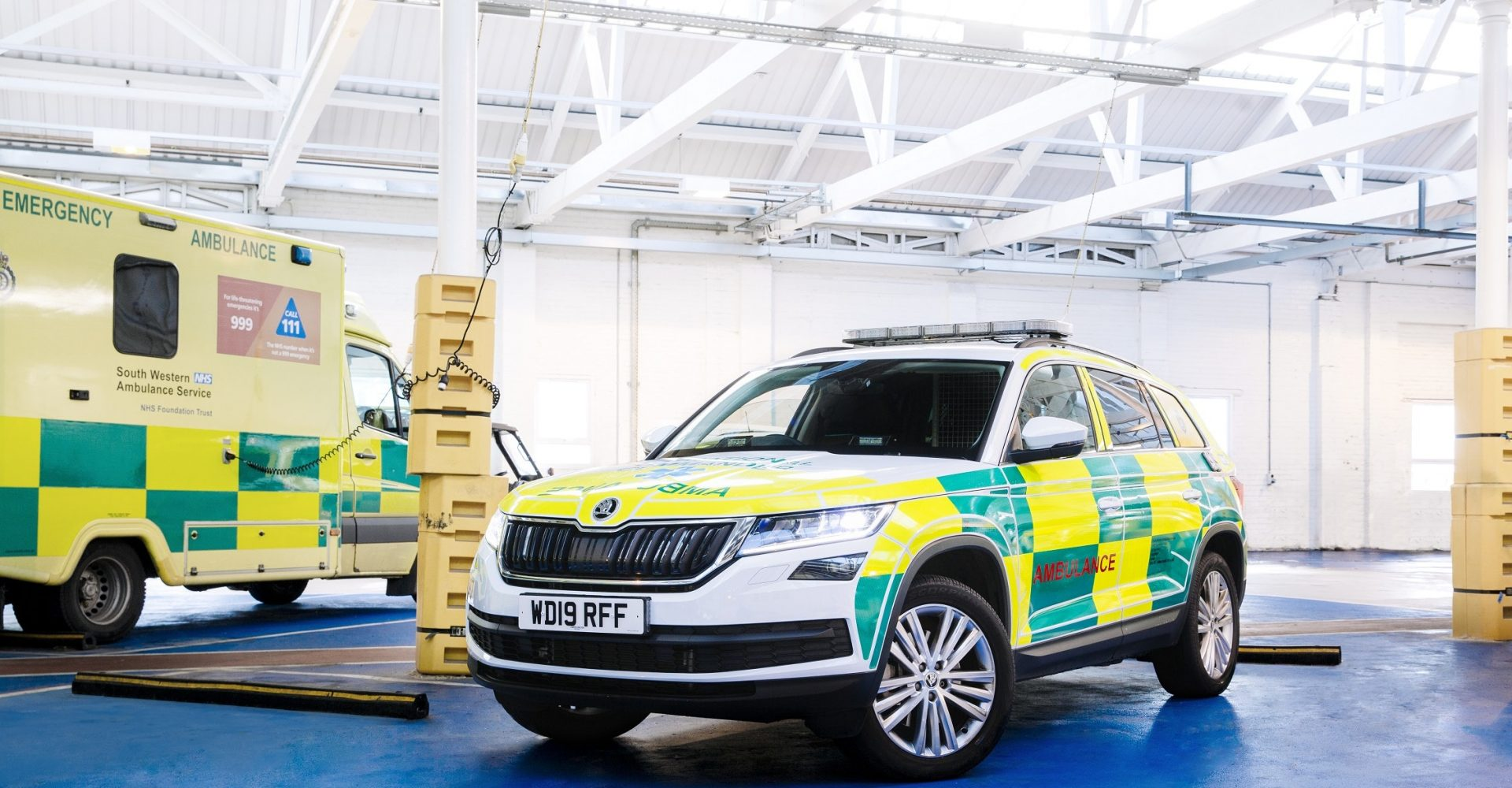 Skoda delivers 18 kitted-out Kodiaqs to South Western Ambulance Service