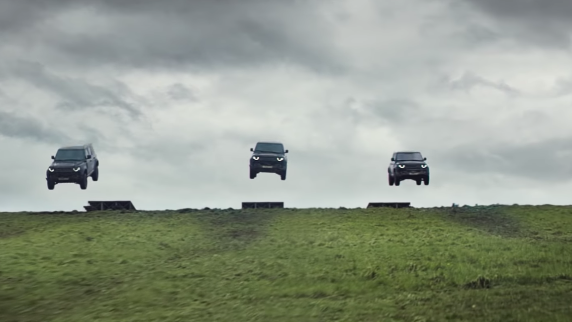 New Land Rover Defender takes a beating in new James Bond-themed TV spot
