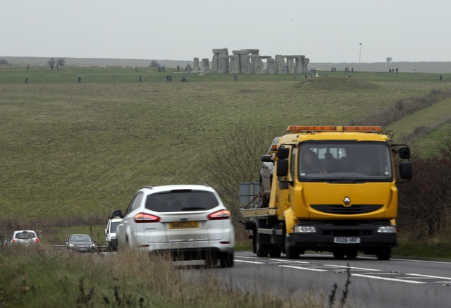 The A303 runs past Stonehenge (Steve Parsons/PA)