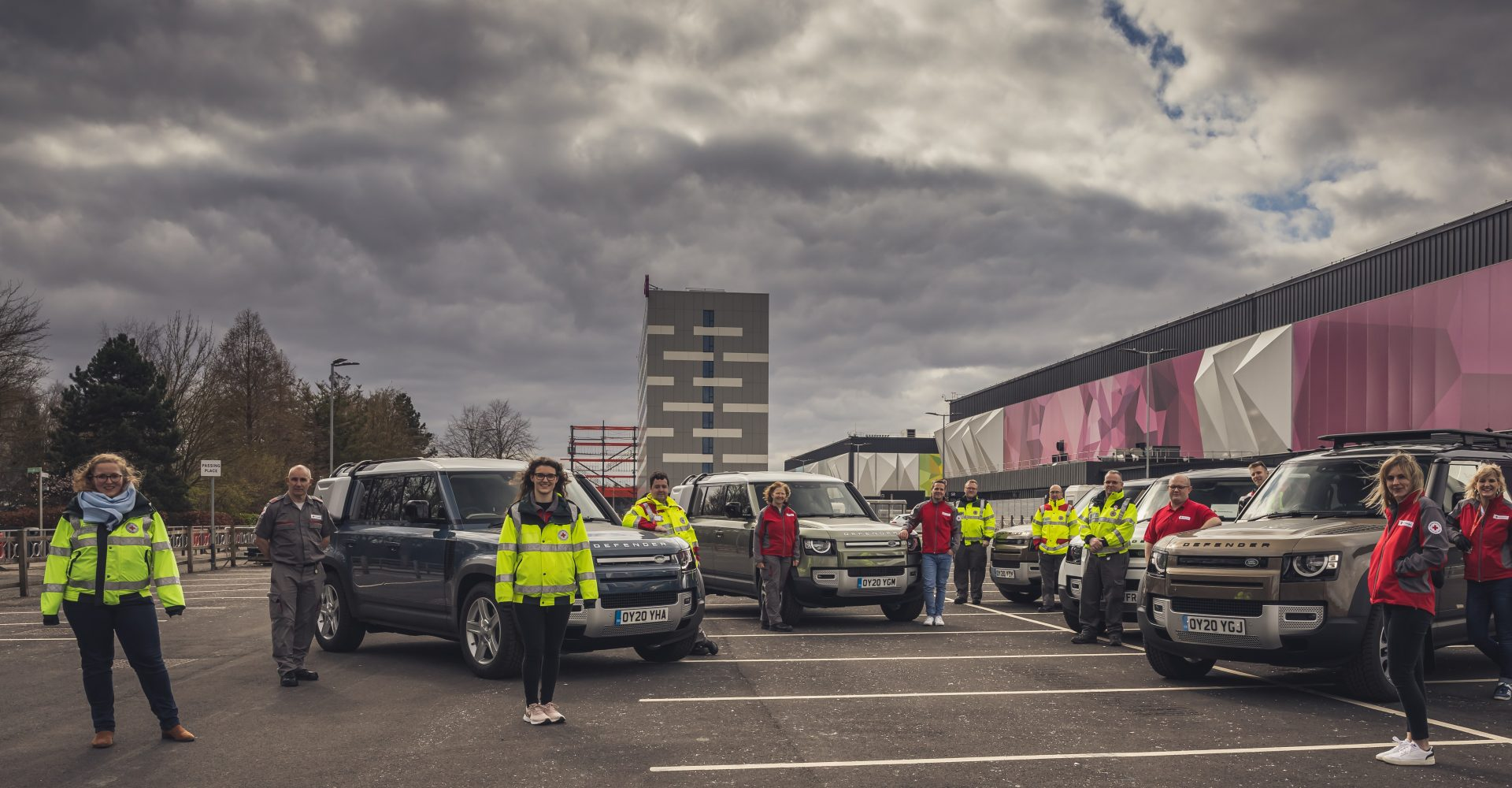 Fleet of new Defenders made available to Red Cross