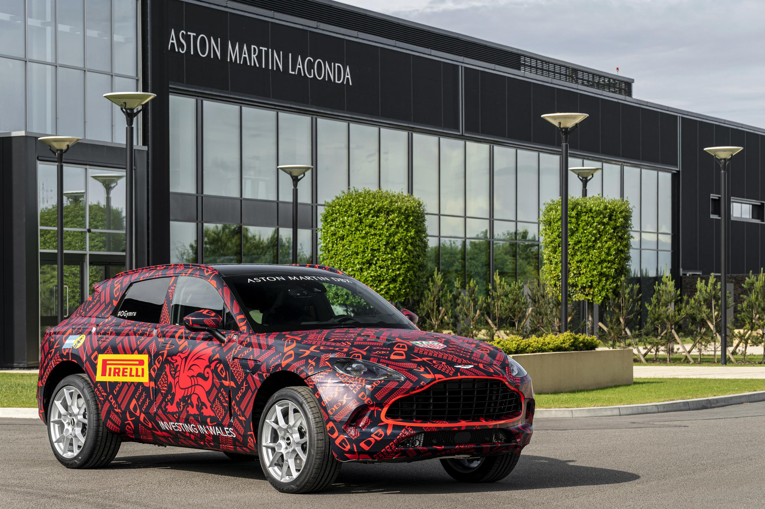 Aston Martin DBX outside St Athan