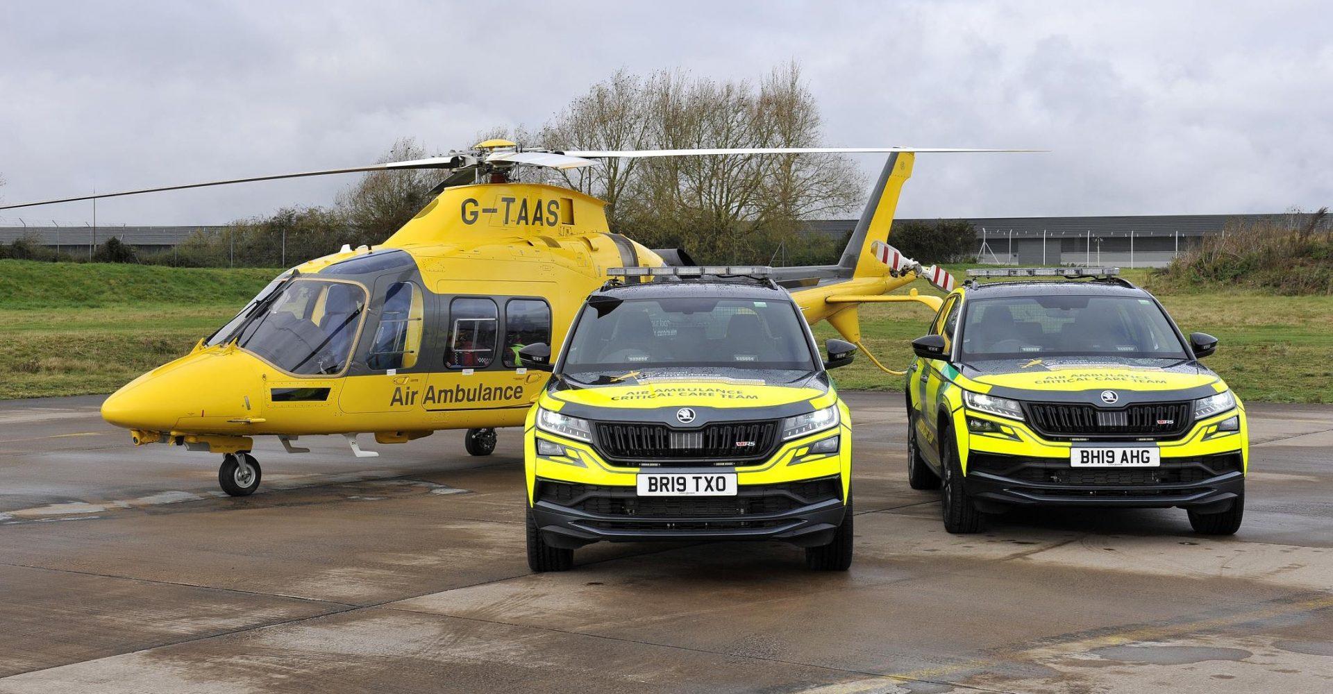 Skoda Kodiaq vRS joins Air Ambulance Service fleet