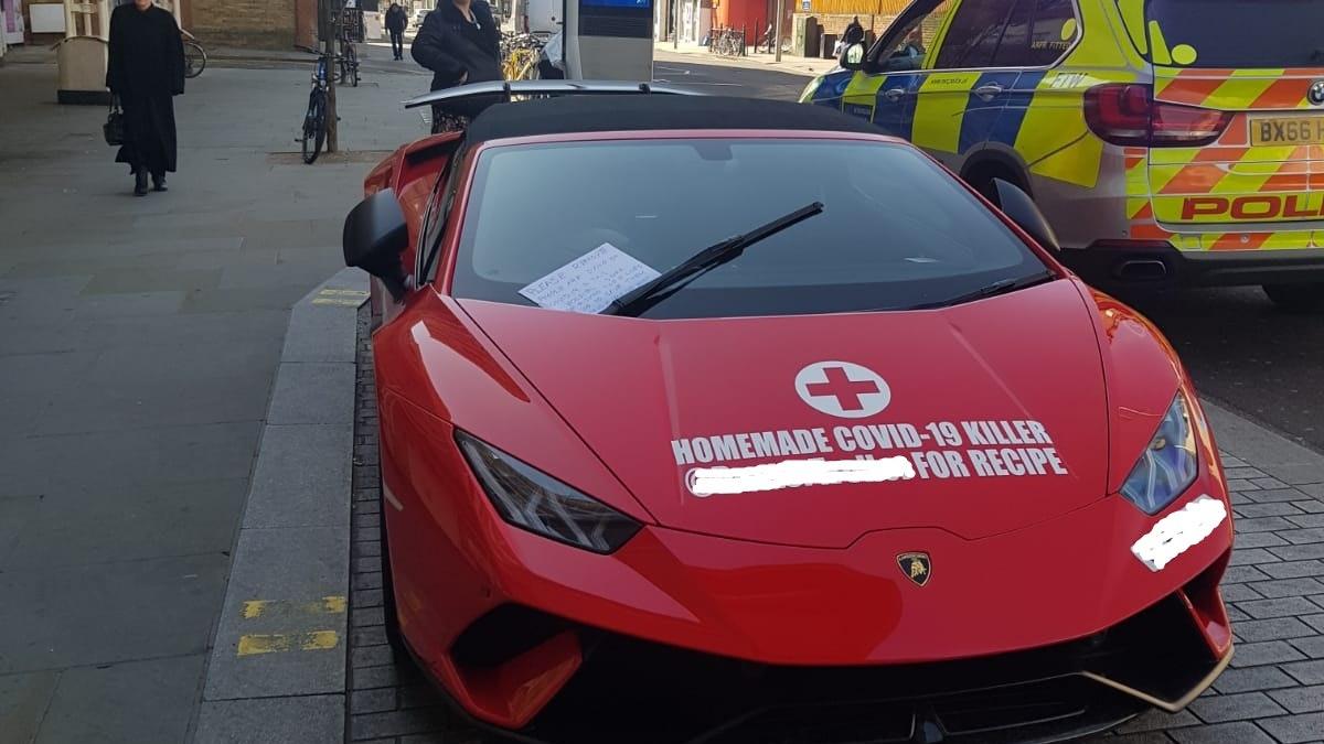 Online prankster criticised after leaving supercar outside London hospital