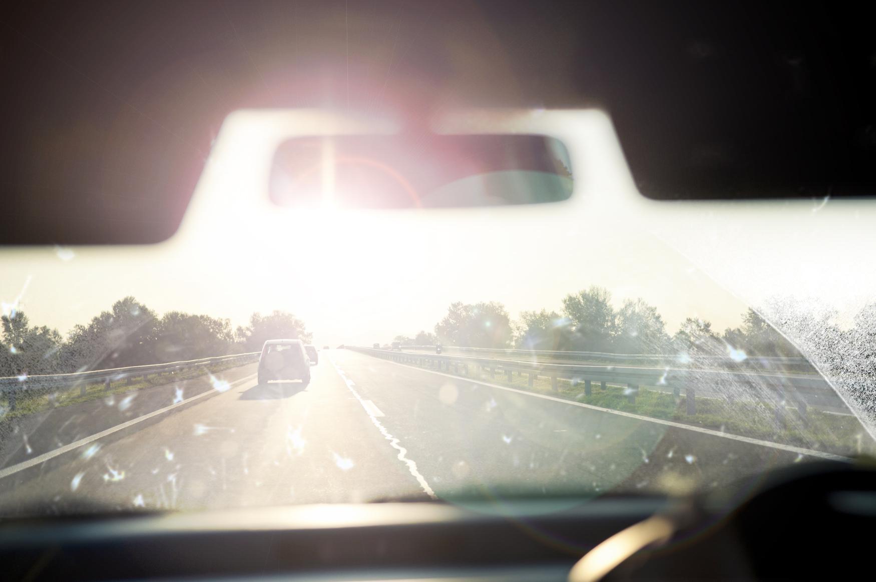 Dirty windscreen