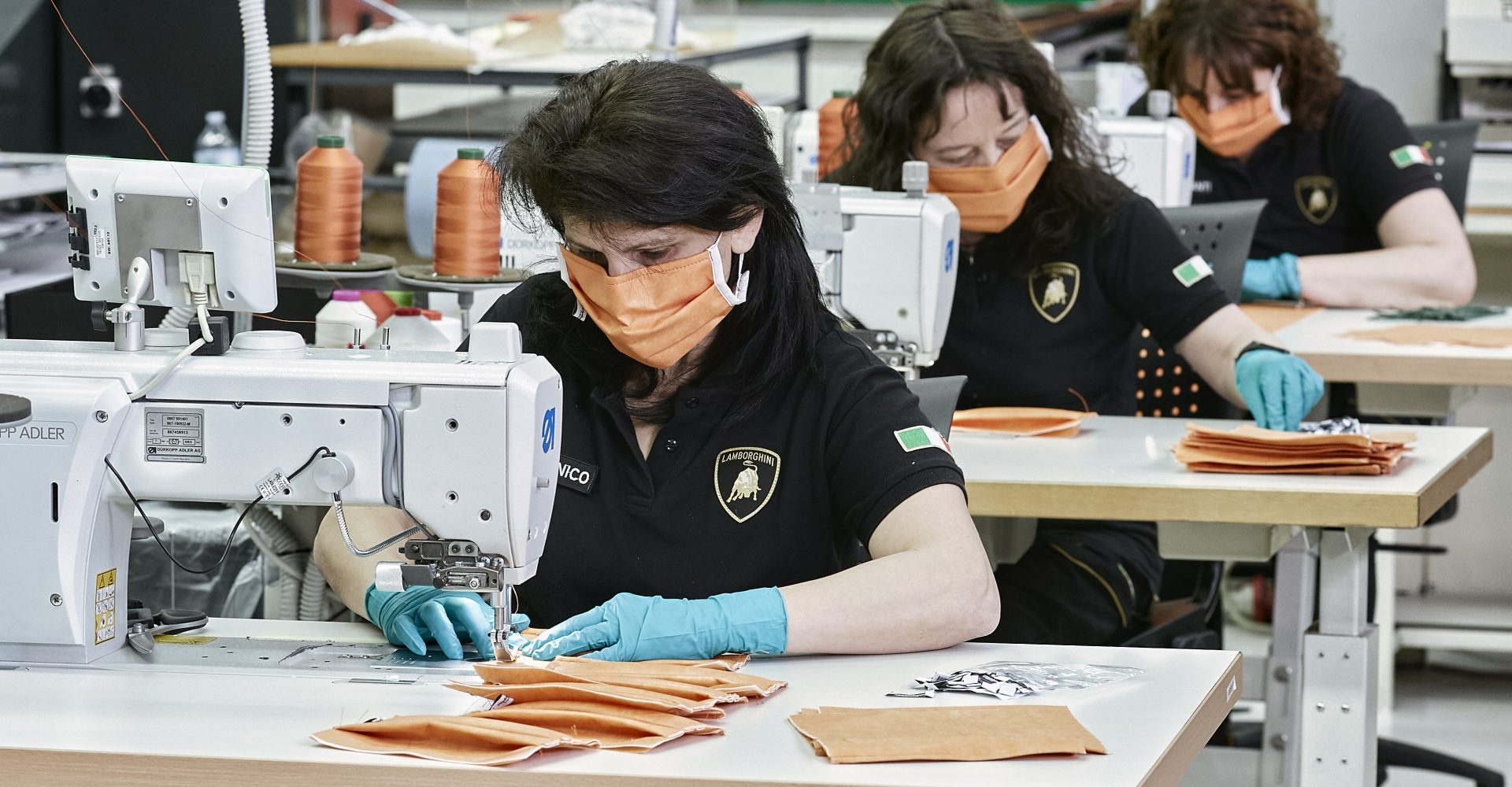 Lamborghini is making surgical masks as car industry works to fight Covid-19