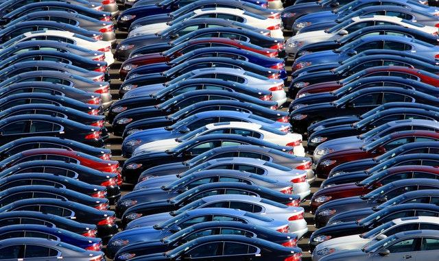 New Jaguar cars await delivery near the company's Castle Bromwich plant, Birmingham (David Jones/PA)