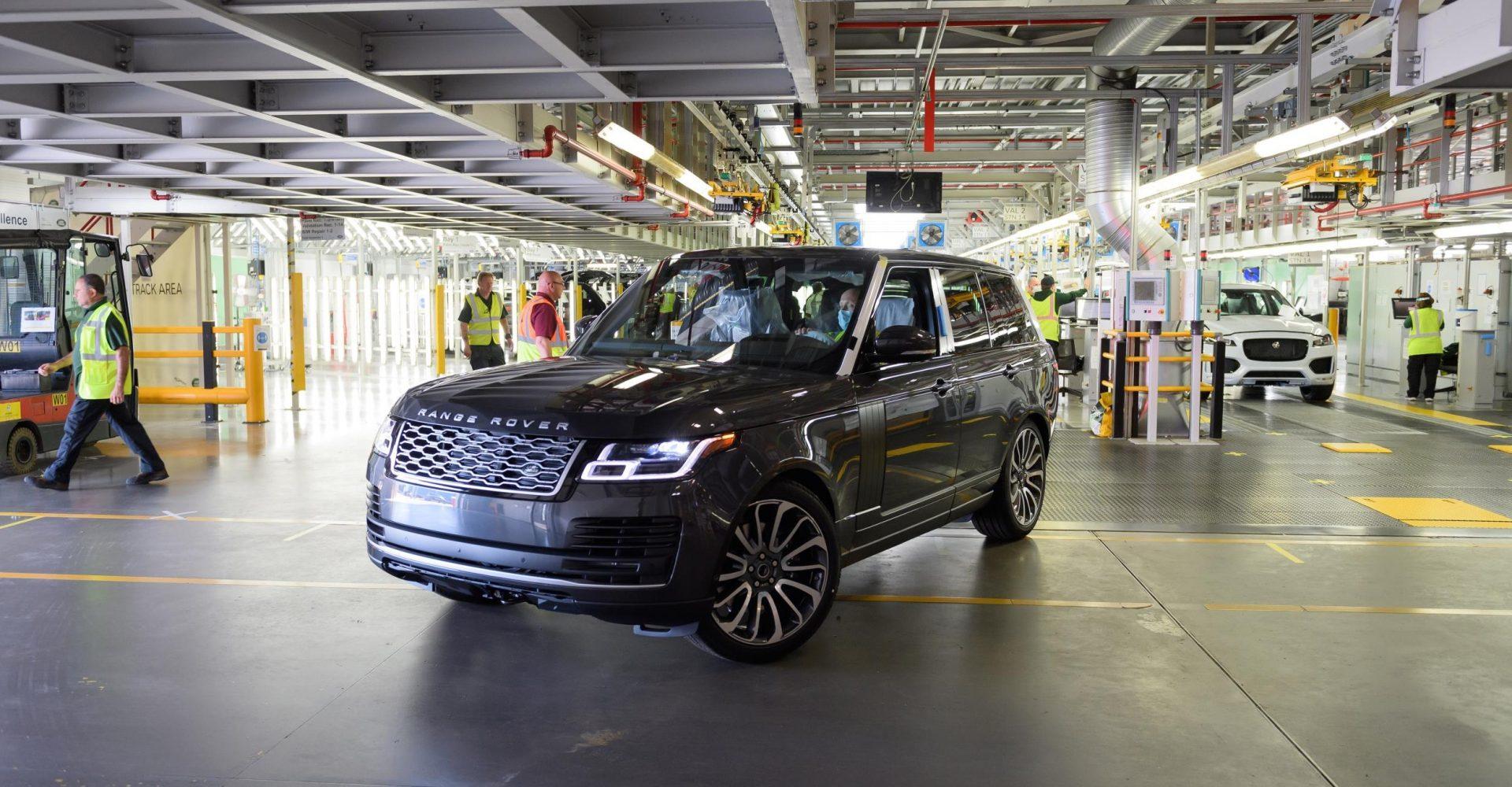First Range Rover built under social distancing measures rolls off production line
