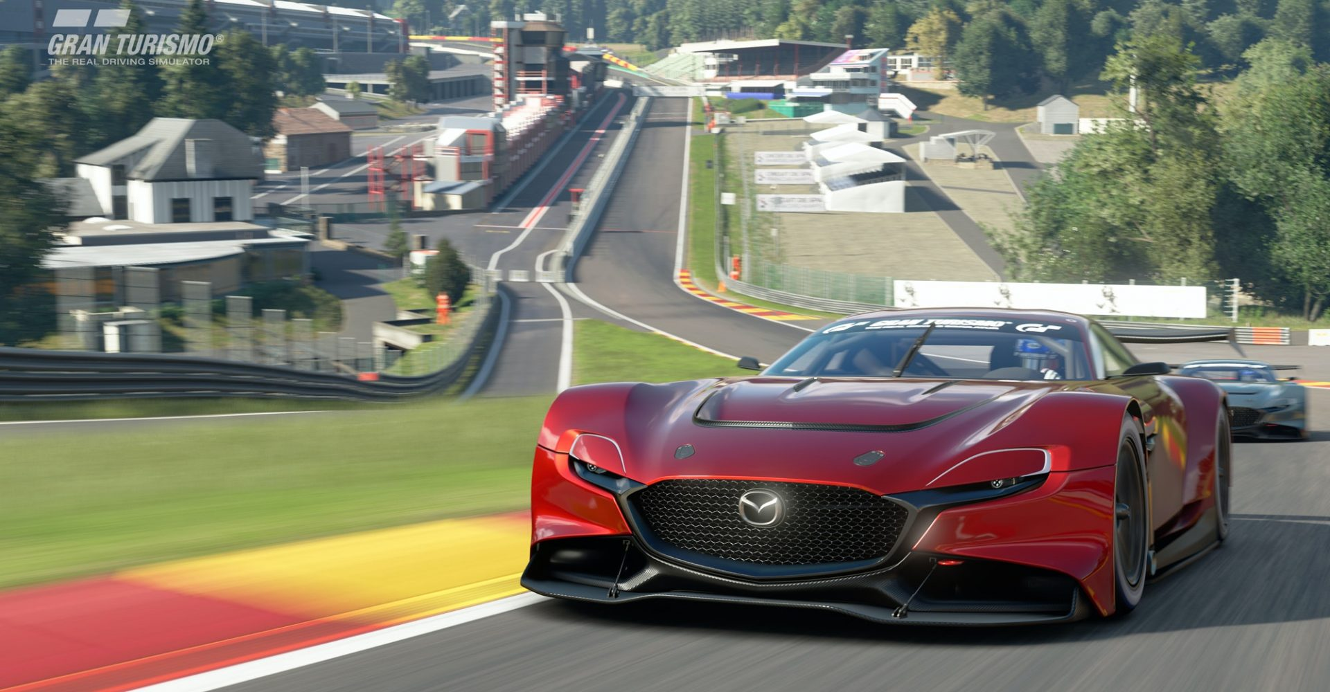 The Mazda RX-Vision GT3 is an ultra-sleek virtual race car