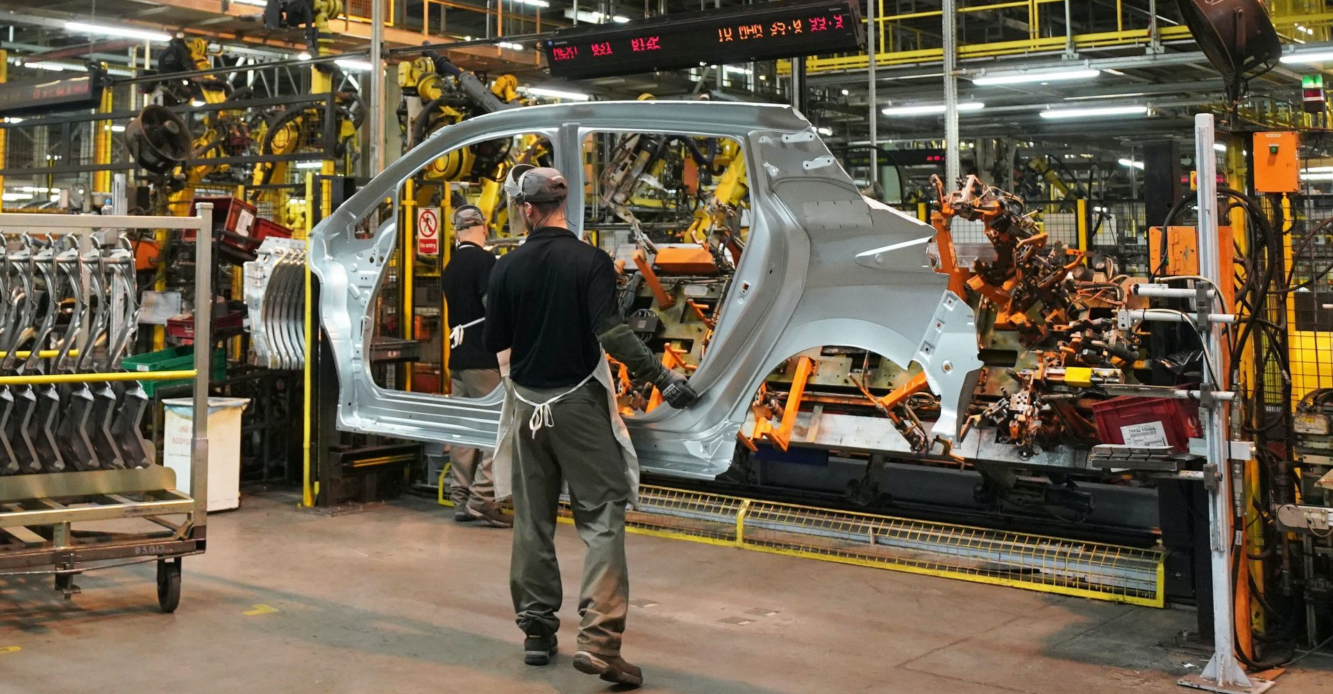 Just 197 cars were produced in the UK in April