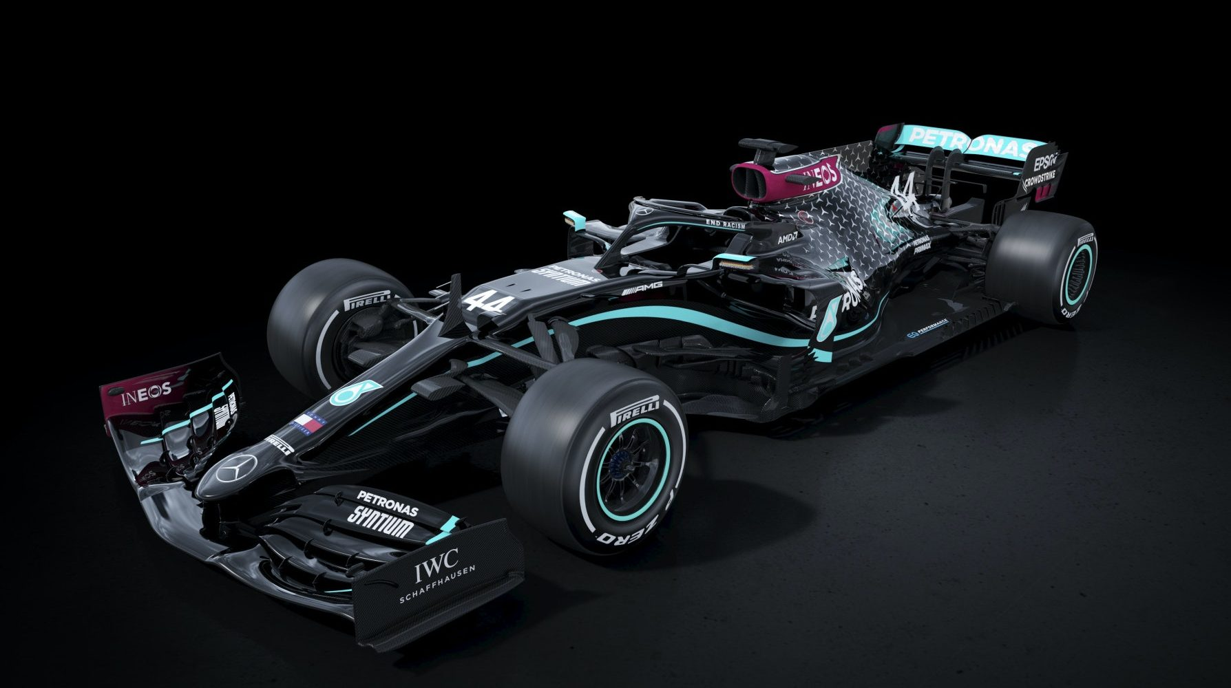 Mercedes F1 team reveals all-black 2020 car in 'stand against racism'