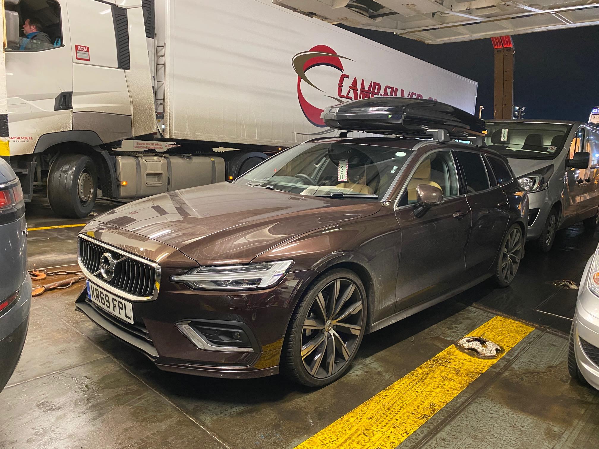 Volvo V60 ferry shot