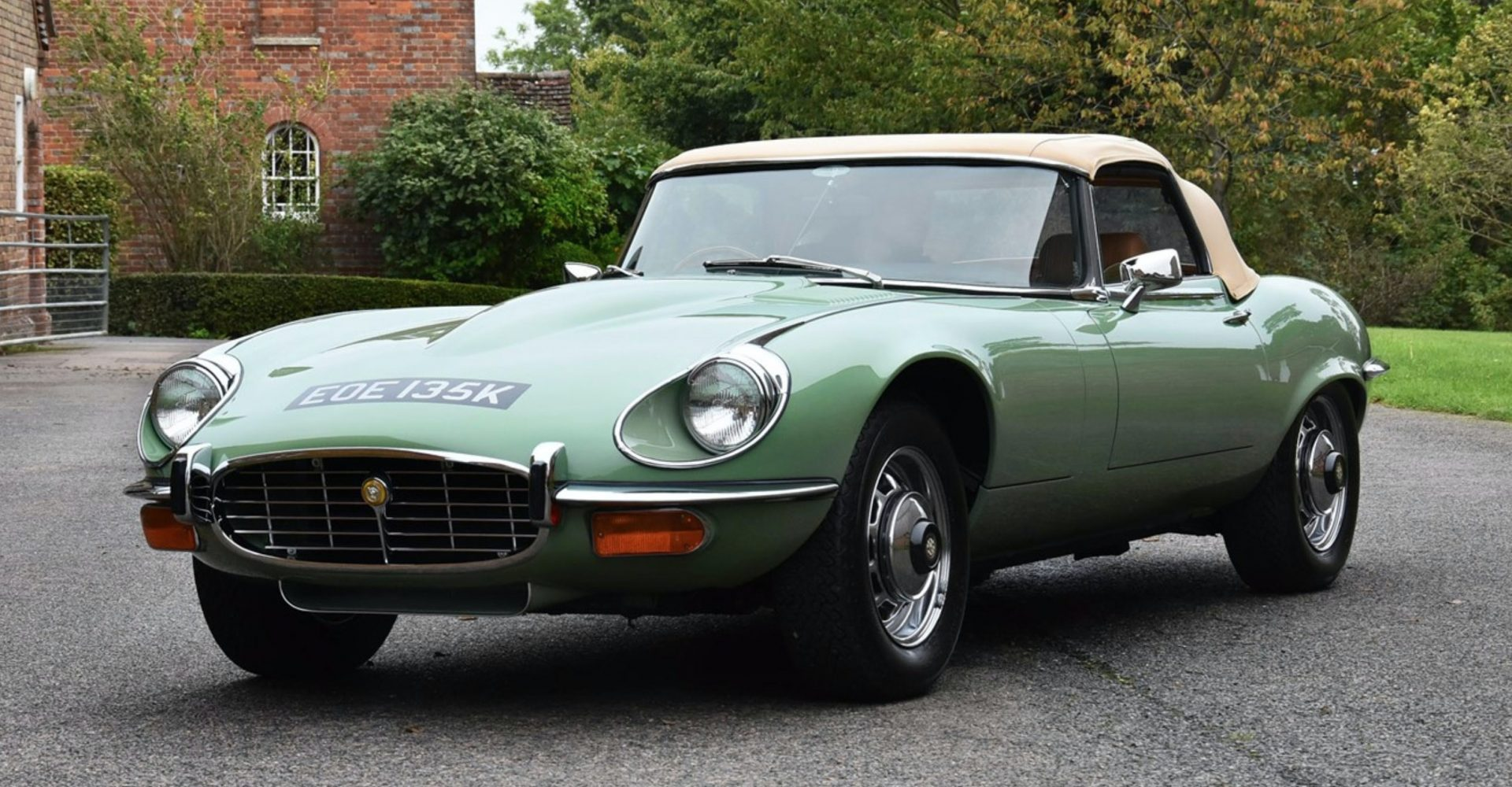 A 1972 Jaguar E-Type formerly owned by Kevin Keegan undergoes restoration
