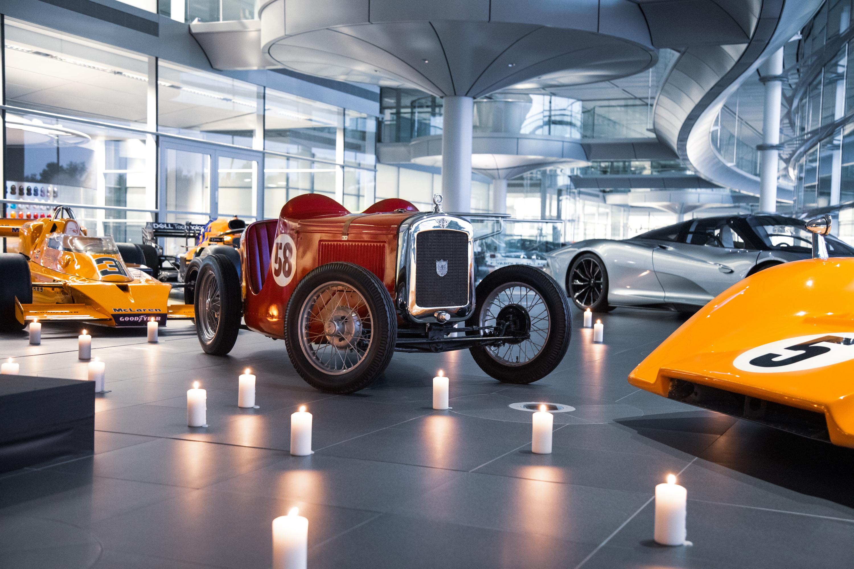 McLaren unveils statue of founder Bruce McLaren at its Woking headquarters