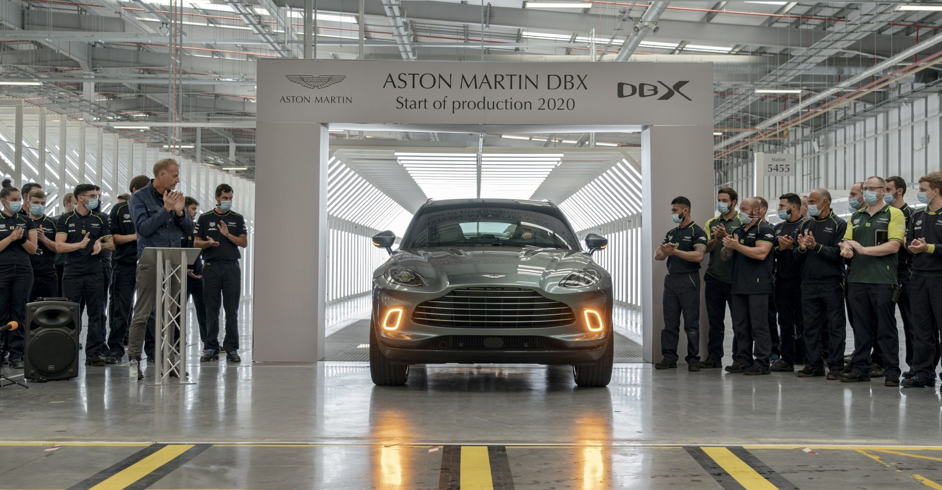 First Aston Martin DBX rolls off the production line