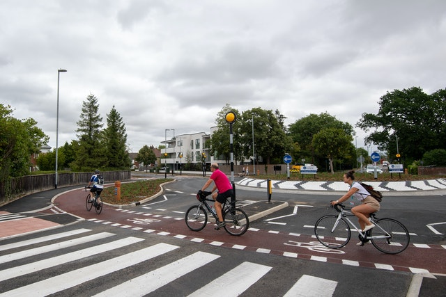 UK's first Dutch style roundabout in Cambridge