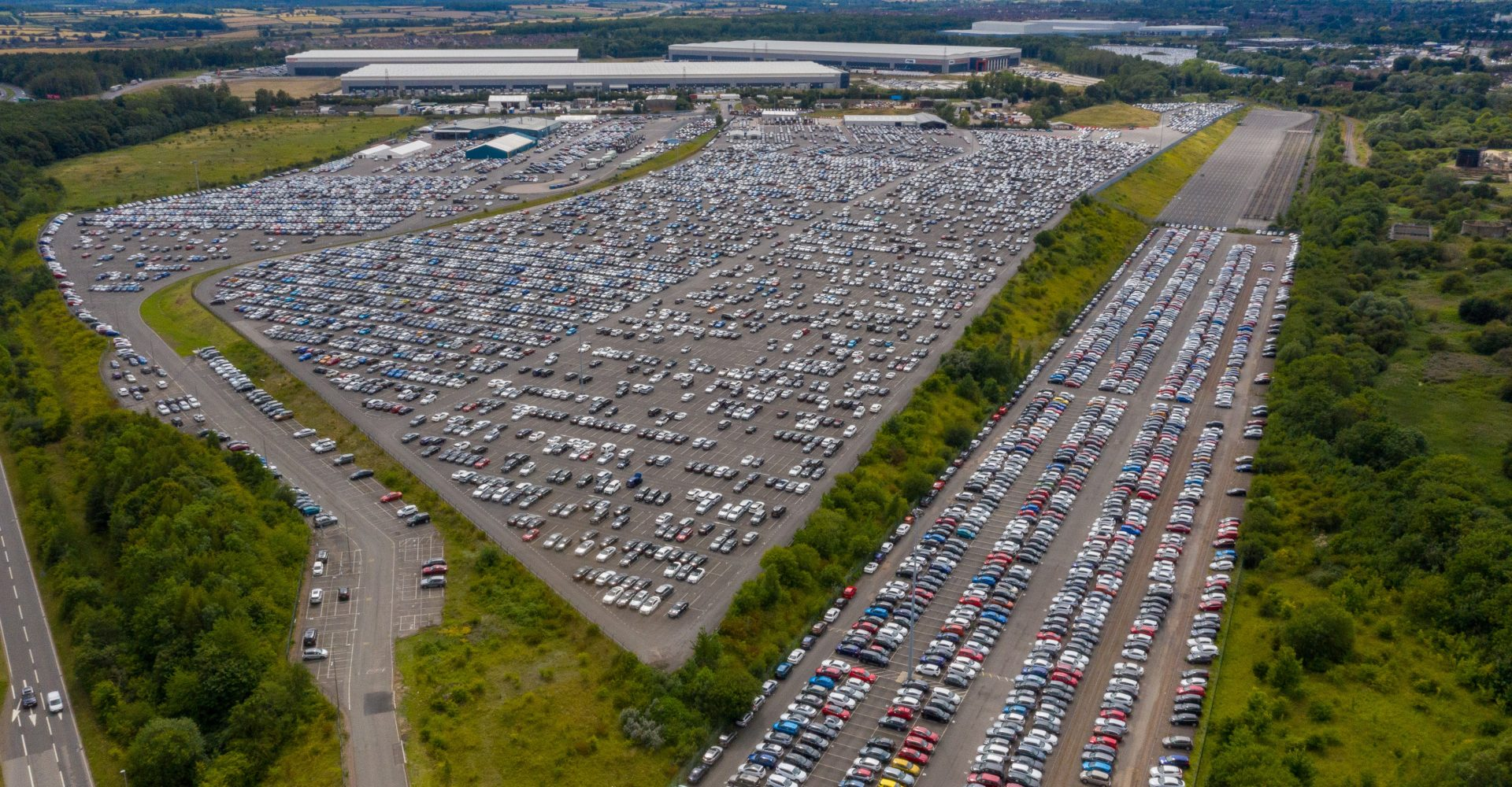 Thousands of cars put into storage due to pandemic