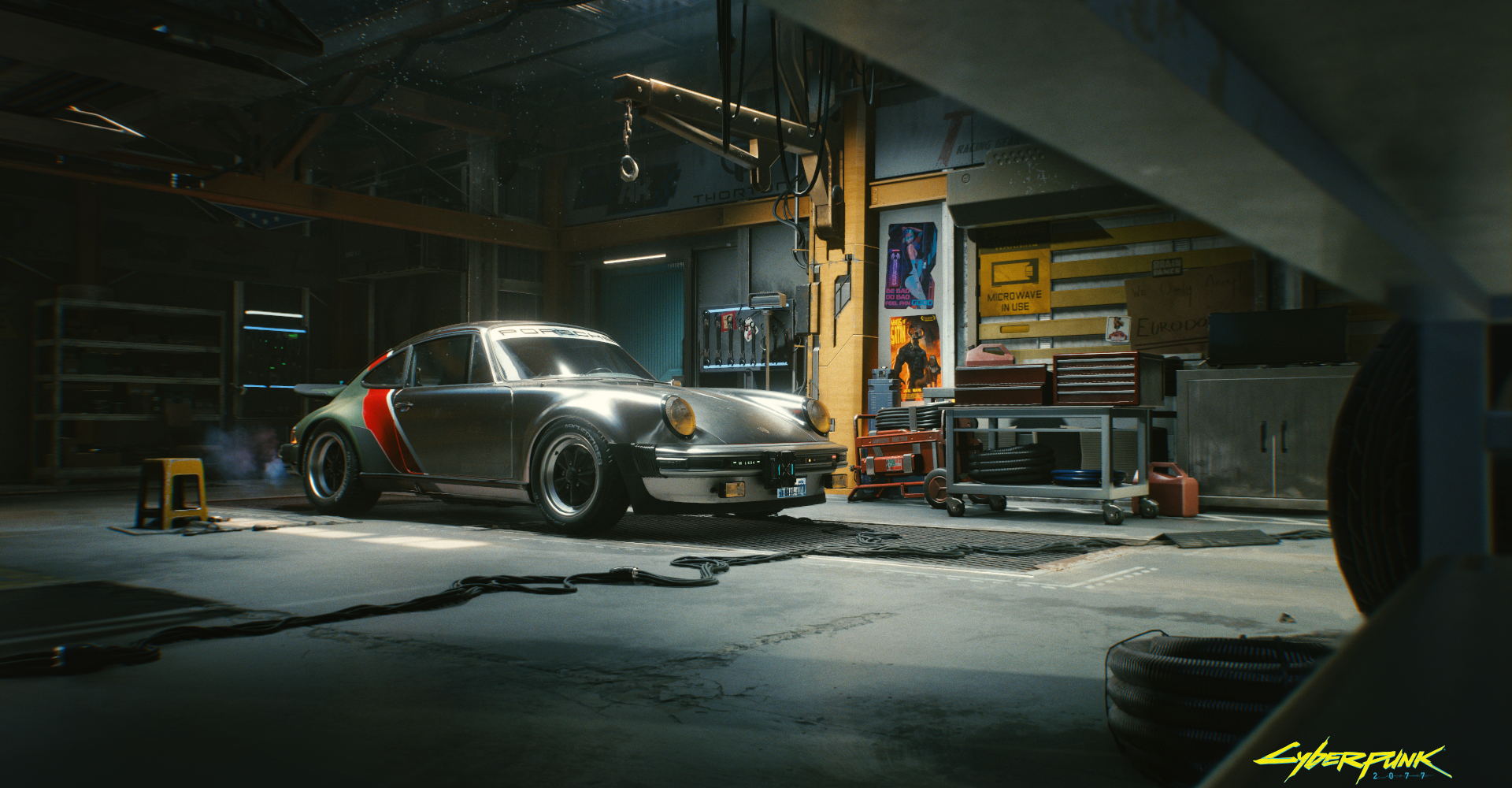 The only real car in Cyberpunk 2077 is this future-modded Porsche 911 Turbo