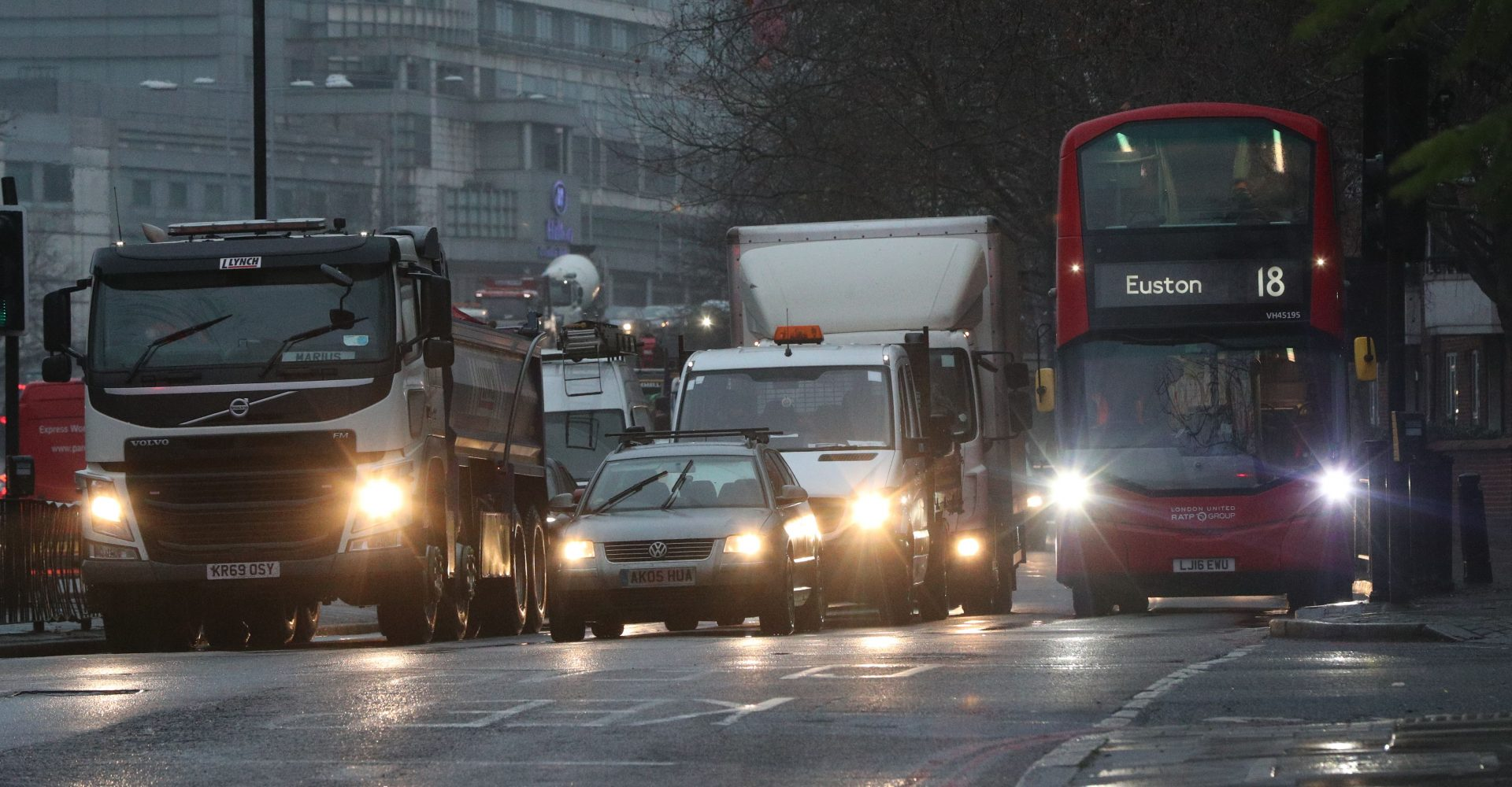 Traffic has not fallen to the same low levels seen during the first national lockdown