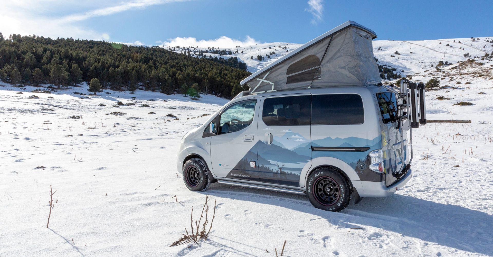 Nissan e-NV200 Winter Camper concept is the perfect zero-emission adventure vehicle