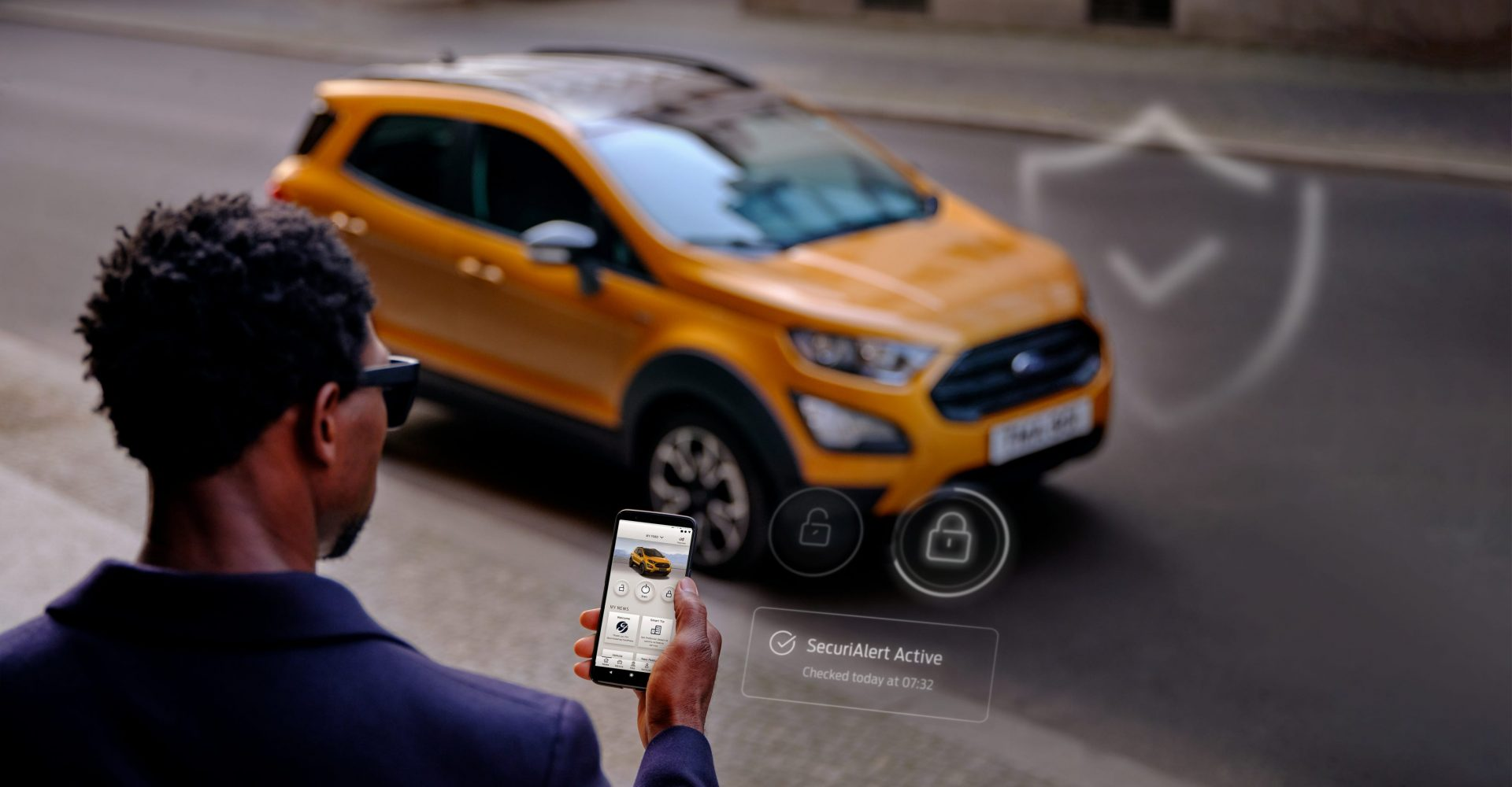 Ford's smartphone system can alert a car owner if their vehicle is being broken into