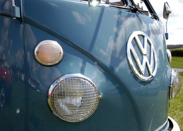 A Volkswagen camper van (Alistair Wilson 50/50/AP)